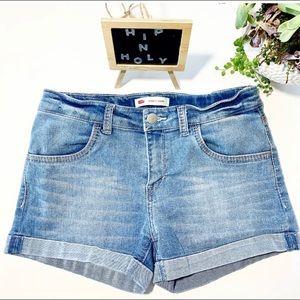 LEVI'S Shorty Short Folded Cuff Blue Size 16R
